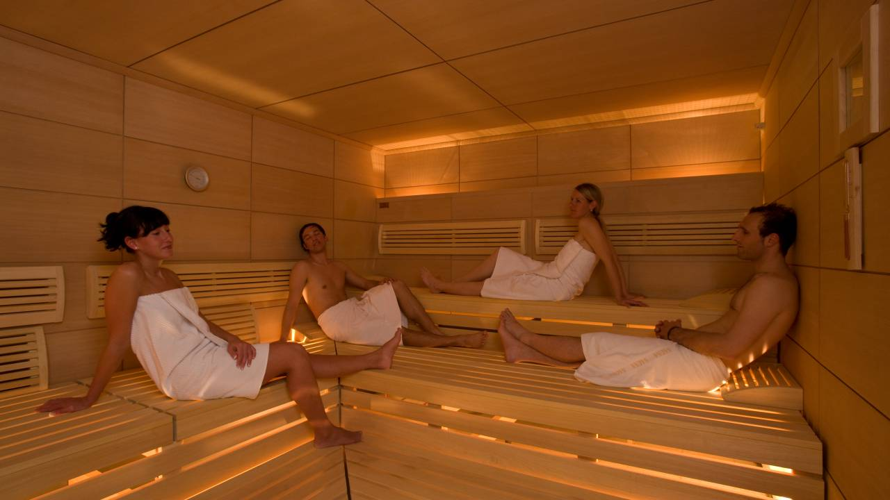 Sauna world at Resort La Ginabelle