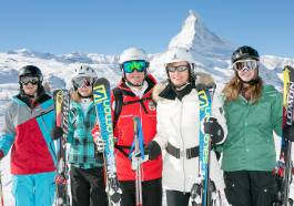 Zermatt with more than 350km of ski runs.