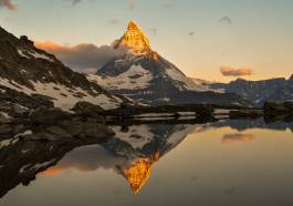 Holiday in Zermatt. The Village at the foot of Matterhorn.